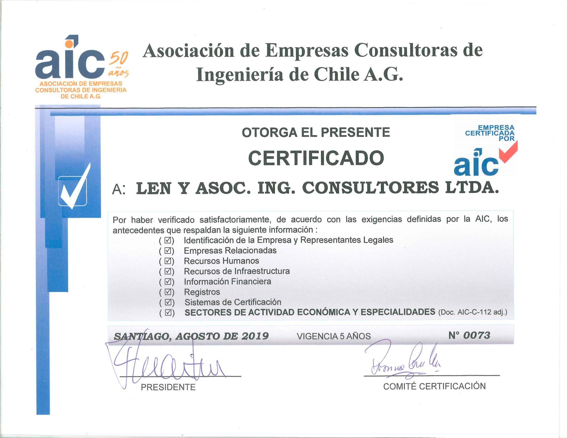 Nueva Certificación