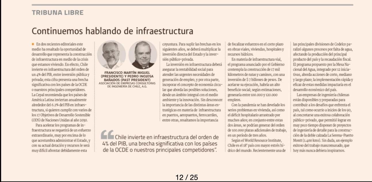 Continuemos Hablando de Infraestructura